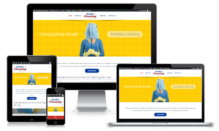 Website for a cleaning company in Mississauga