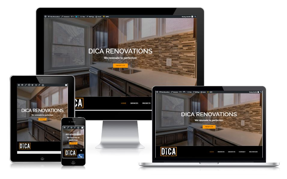 Website design for contractors and renovation website