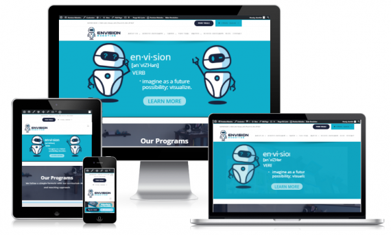 Website Design for Toronto based Envision Robotics