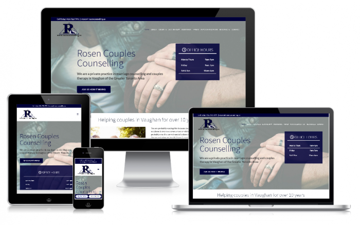 Rosen Couples Counselling Website Design