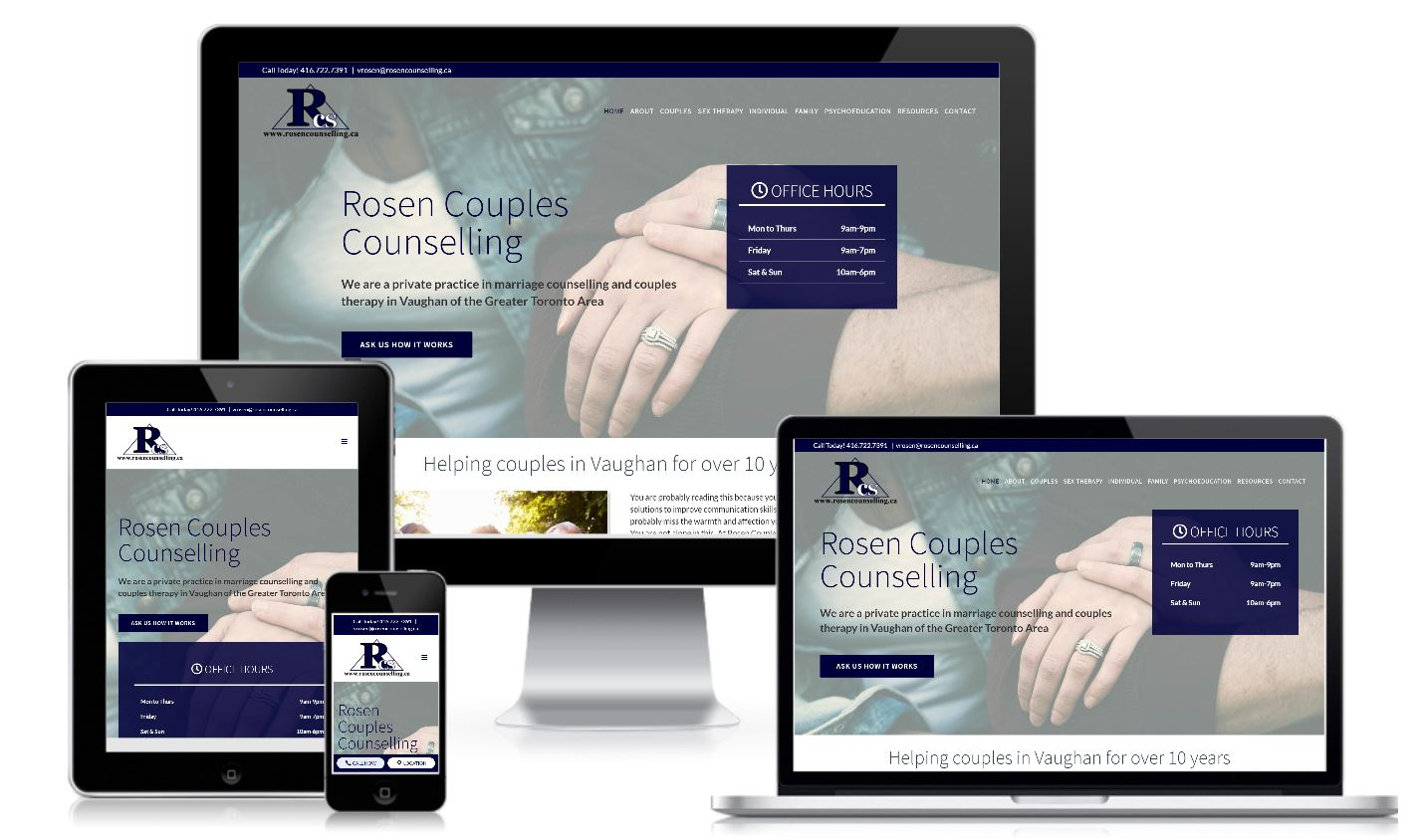 Rosen Couples Counselling Torornto Website Redesign Case Study