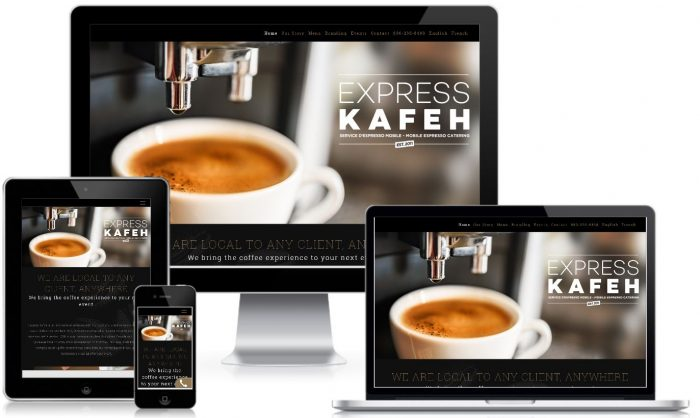 WordPress Website Design Kafe Express Montreal